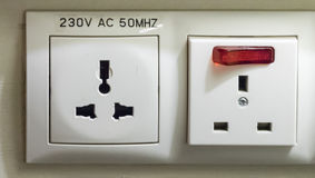 Electric Socket Royalty Free Stock Photos