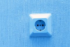 Electric socket on wall Stock Photos
