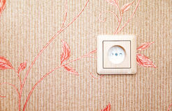 Electric socket at the wall Royalty Free Stock Image