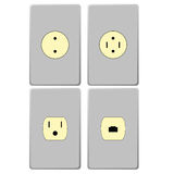 Electric sockets Stock Photography
