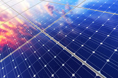Electric solar battery panels Royalty Free Stock Photos