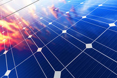 Electric solar battery panels Stock Photography