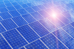 Electric solar battery panels Stock Photo