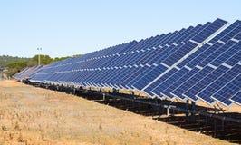 Electric solar panel system Stock Photo