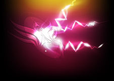 Electric spark eagle symbol Royalty Free Stock Images
