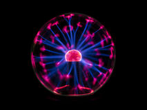 Electric spark on plasma ball Royalty Free Stock Image