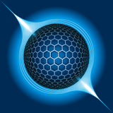 Electric Sphere. Fantasy Electric Sphere. Vector Illustration Stock Photography