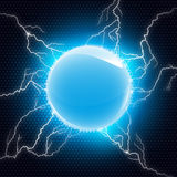 Electric sphere Royalty Free Stock Photography