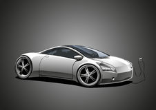 Electric sportscar, white Royalty Free Stock Photos