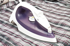 Electric steam iron Royalty Free Stock Photos