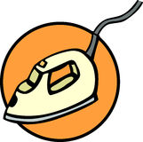 Electric steam iron vector illustration Royalty Free Stock Images