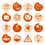 Electric stickers Stock Photography