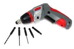 Electric (storage-battery) screwdriver Stock Photos