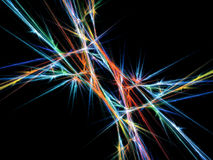 Electric storm. Multi colored electric waves abstract Stock Photo