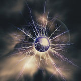 Electric storm. Abstract science and power industry backgrounds Royalty Free Stock Images