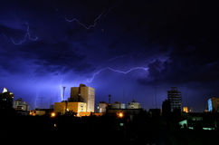 Electric storm stock photo