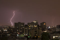 Electric storm. In Mexico City Stock Images