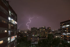 Electric storm. In Mexico City Royalty Free Stock Images