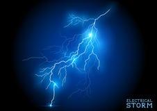 Electric Storm. Vector lightning bolt Royalty Free Stock Photos
