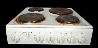 Electric stove Royalty Free Stock Images