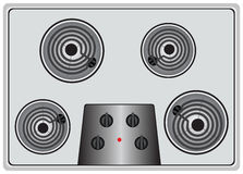Electric stove four element Royalty Free Stock Image