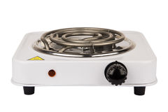 Electric stove with one burner Stock Image