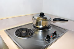 Electric stove top Stock Photo