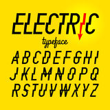 Electric style typeface Stock Images