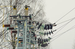Free Electric Substation And Power Transmission Line Royalty Free Stock Photo - 88103895