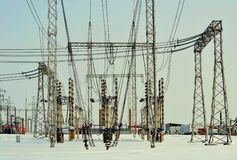 Electric substation Royalty Free Stock Photography