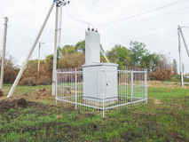 Electric substation, transformer Royalty Free Stock Photography