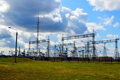 Electric substations Siberia Royalty Free Stock Photography