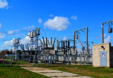 Electric substations Siberia Royalty Free Stock Image