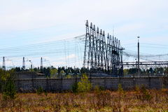 Electric substations Siberia Stock Photography