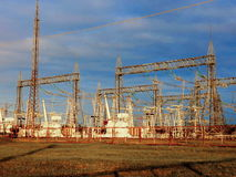 Electric substations Siberia Stock Image