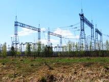 Electric substations Siberia Stock Photo