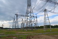 Electric substations Altaya Royalty Free Stock Photography