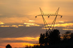 Electric sunset Stock Image