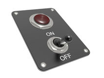 Electric switch ON/OFF Stock Photos