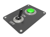 Electric switch ON/OFF Stock Images
