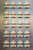 Electric switch panel Stock Image