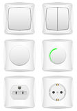 Electric switch set Royalty Free Stock Image