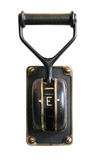Electric switch. Vintage black electric energy switch royalty free stock photo