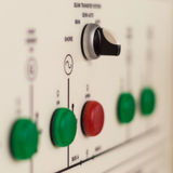 Electric switchboard blurred picture. Main electric control board inside a factory blurred picture stock photography
