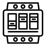 Electric switchboard icon, outline style royalty free illustration