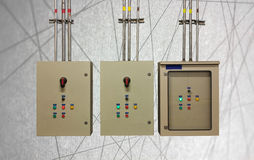Electric system in cabinet  building system abstract line backgr Royalty Free Stock Image