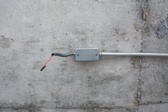 Electric system on ceiling in construction site Stock Photography