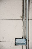 electric system on wall in construction site Royalty Free Stock Photography