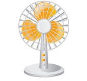 Electric table fan. Illustration background Stock Images