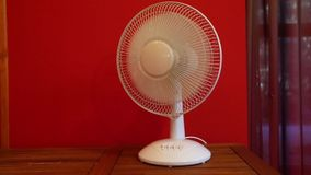 Electric table fan stock video footage